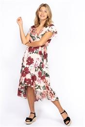 Bild på Monroe Dress Peach/Rose/White